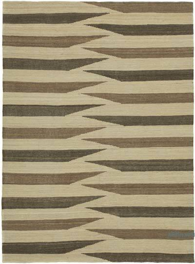 """New Contemporary Kilim Rug - Z Collection - 5'9"""" x 7'9"""" (69 in. x 93 in.)"""