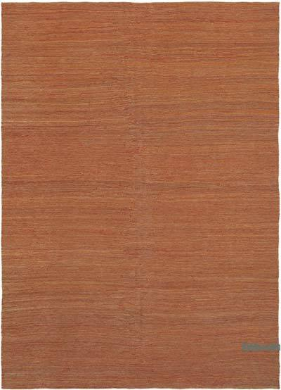 "Orange New Contemporary Kilim Rug - Z Collection - 6' 11"" x 9' 7"" (83 in. x 115 in.)"