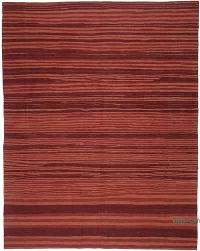 "Red New Contemporary Kilim Rug - Z Collection - 8' 8"" x 11'  (104 in. x 132 in.)"