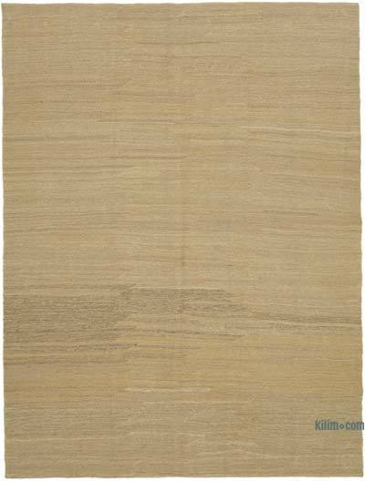 "Beige New Contemporary Kilim Rug - Z Collection - 7'  x 9' 3"" (84 in. x 111 in.)"