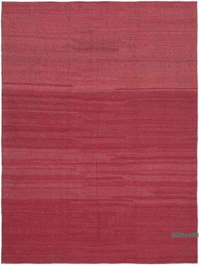 "Red New Contemporary Kilim Rug - Z Collection - 7' 3"" x 10'  (87 in. x 120 in.)"