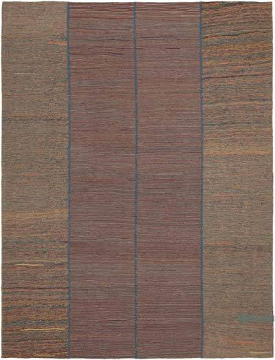 "Multicolor New Contemporary Kilim Rug - Z Collection - 7' 3"" x 9' 7"" (87 in. x 115 in.)"