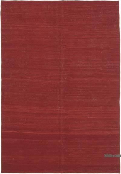 Kırmızı Modern Yeni Kilim - 187 cm x 273 cm