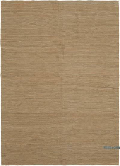 "Brown New Contemporary Kilim Rug - Z Collection - 6' 4"" x 8' 11"" (76 in. x 107 in.)"