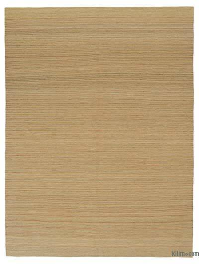 "Beige New Contemporary Kilim Rug - Z Collection - 7' 1"" x 9' 6"" (85 in. x 114 in.)"