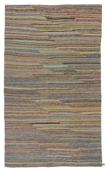 "Multicolor New Contemporary Kilim Rug - Z Collection - 4' 10"" x 8'  (58 in. x 96 in.)"
