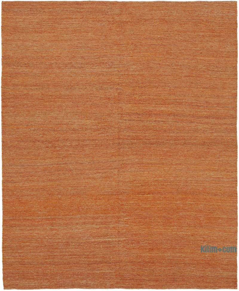 Turuncu Modern Yeni Kilim - 161 cm x 196 cm - K0037754