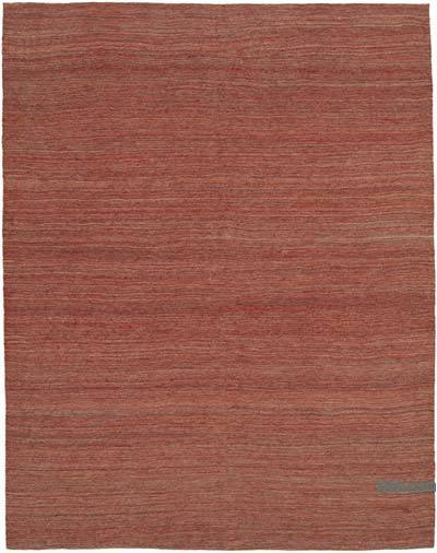 "Red New Contemporary Kilim Rug - Z Collection - 7' 1"" x 9' 2"" (85 in. x 110 in.)"