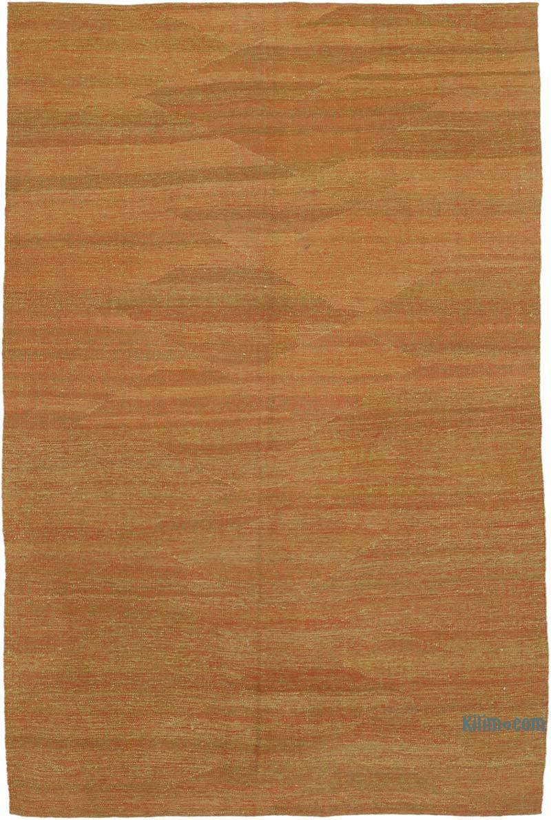 """Red, Green New Contemporary Kilim Rug - Z Collection - 5' 5"""" x 8' 3"""" (65 in. x 99 in.) - K0037789"""