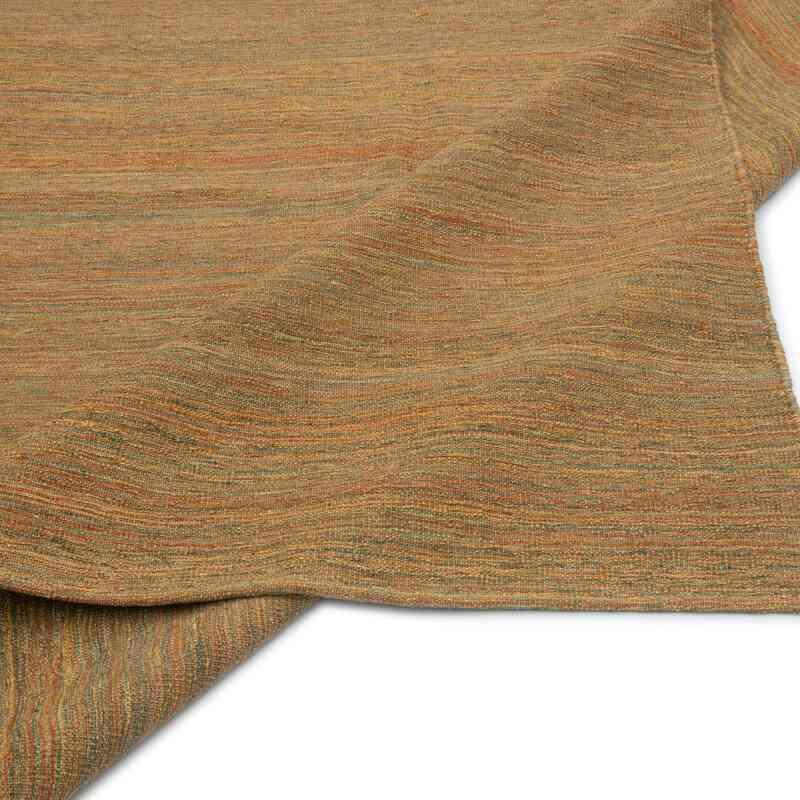 Kırmızı, Yeşil Modern Yeni Kilim - 181 cm x 221 cm - K0037790