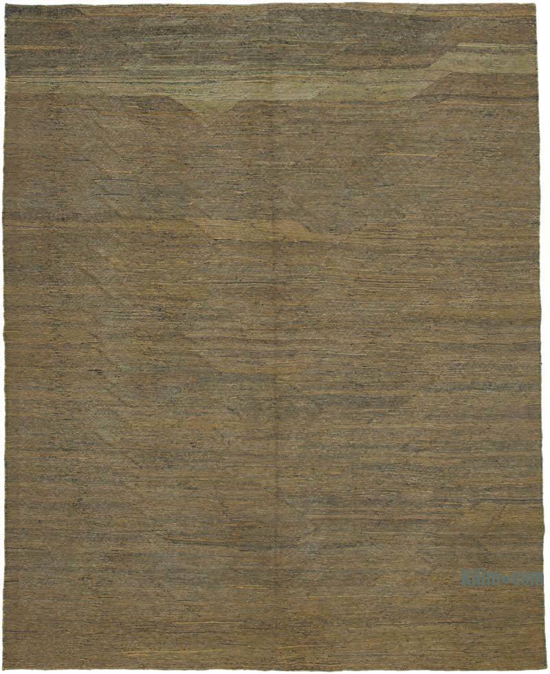 Sarı, Lacivert Modern Yeni Kilim - 258 cm x 328 cm - K0037794