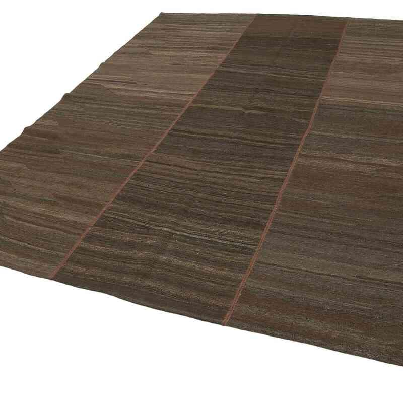 Kahverengi Modern Yeni Kilim - 221 cm x 309 cm - K0037801