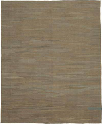 "Brown New Contemporary Kilim Rug - Z Collection - 7' 11"" x 9' 6"" (95 in. x 114 in.)"