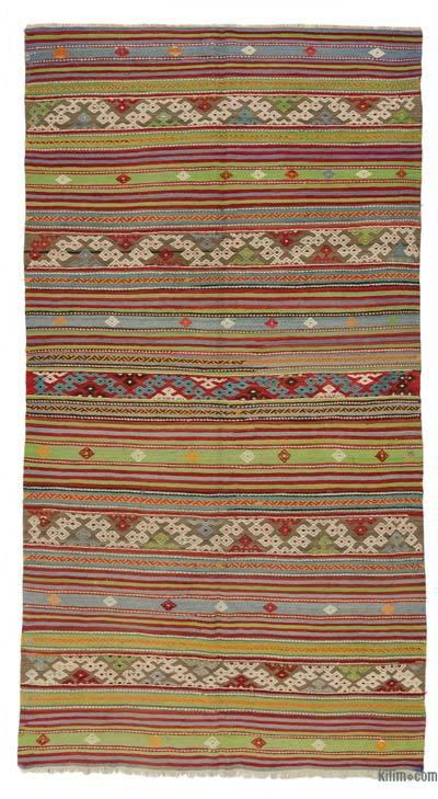"""Vintage Balikesir Kilim Rug - 5' 5"""" x 9' 11"""" (65 in. x 119 in.)"""