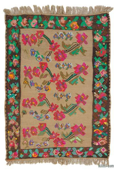 Alfombra Vintage Kandira Kilim - 179 cm x 255 cm