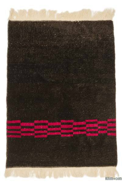 "Brown New Turkish Pile Rug - 4' 3"" x 5' 8"" (51 in. x 68 in.)"