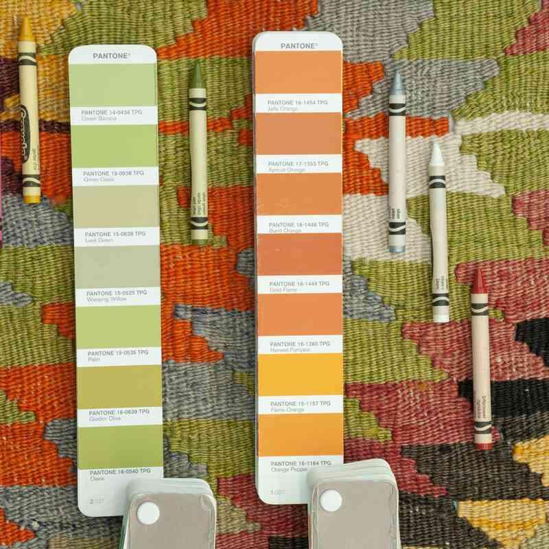 Çok Renkli Afyon Kilimi - 172 cm x 271 cm - K0037847