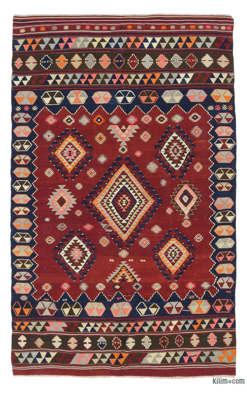 Multicolor Vintage Balikesir Kilim Rug