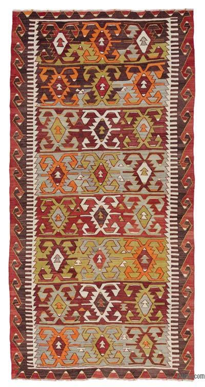 """Vintage Konya Kilim Rug - 5'  x 9' 11"""" (60 in. x 119 in.)"""
