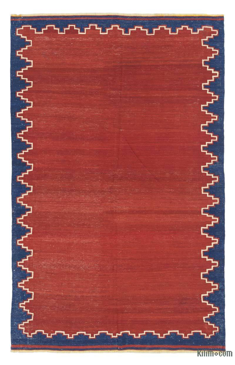 "Red Antique Balikesir Kilim Rug - 4' 9"" x 7' 5"" (57 in. x 89 in.) - K0037881"