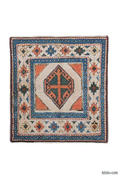 """New Hand Knotted Anatolian Rug - 3' 3"""" x 3' 6"""" (39 in. x 42 in.)"""