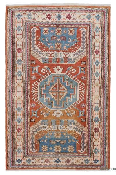"""New Hand Knotted Anatolian Rug - 4'2"""" x 6'6"""" (50 in. x 78 in.)"""