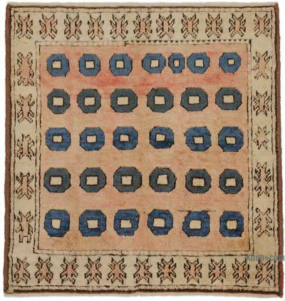 "New Hand Knotted Anatolian Rug - 3'4"" x 3'5"" (40 in. x 41 in.)"