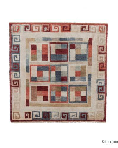 """New Hand Knotted Anatolian Rug - 3'6"""" x 3'6"""" (42 in. x 42 in.)"""