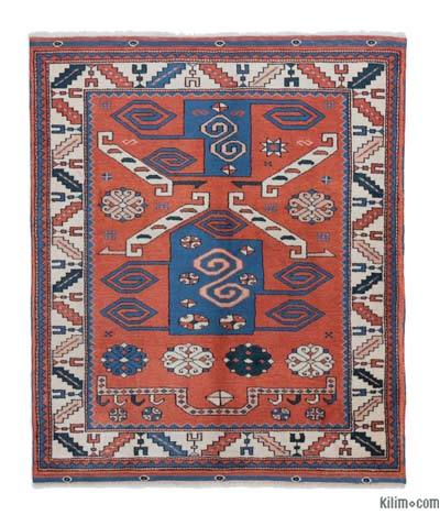 """New Hand Knotted Anatolian Rug - 3' 7"""" x 4' 1"""" (43 in. x 49 in.)"""