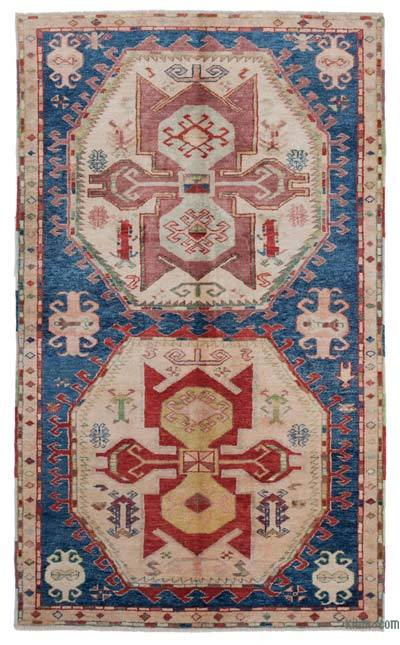 """New Hand Knotted Anatolian Rug - 4' 2"""" x 7'  (50 in. x 84 in.)"""