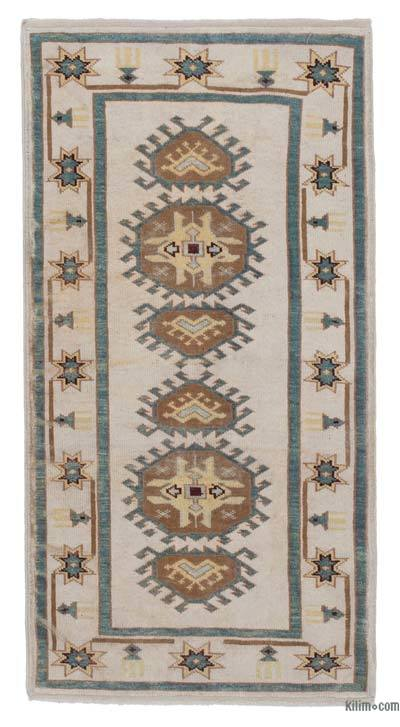 "New Hand Knotted Anatolian Runner Rug - 2'10"" x 5'5"" (34 in. x 65 in.)"