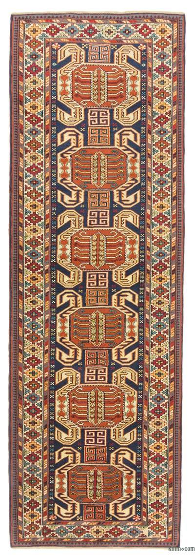 """New Hand Knotted Anatolian Runner Rug - 3'2"""" x 9'9"""" (38 in. x 117 in.)"""