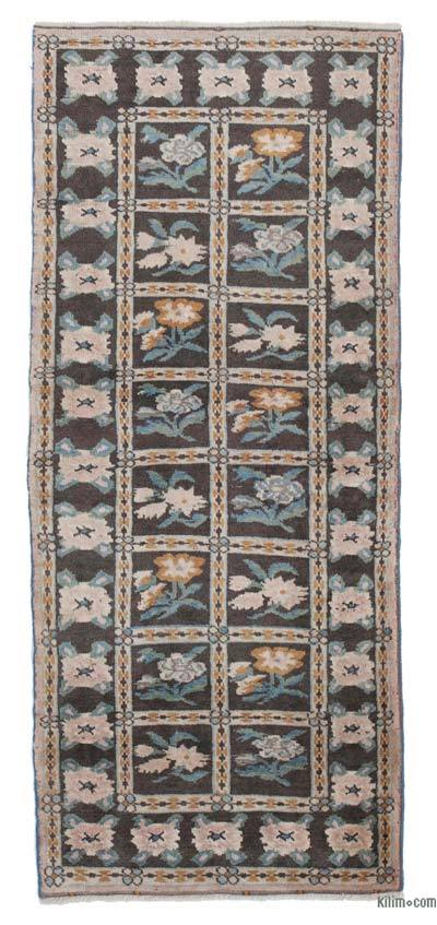 "New Hand Knotted Anatolian Runner Rug - 2' 9"" x 6' 4"" (33 in. x 76 in.)"