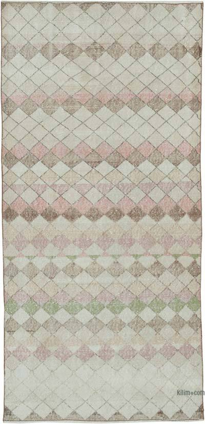 """Vintage Turkish Hand-Knotted Rug - 3' 7"""" x 7' 6"""" (43 in. x 90 in.)"""