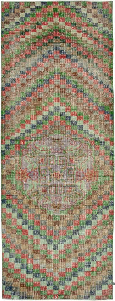 """Vintage Turkish Hand-Knotted Rug - 3' 2"""" x 8' 11"""" (38 in. x 107 in.)"""