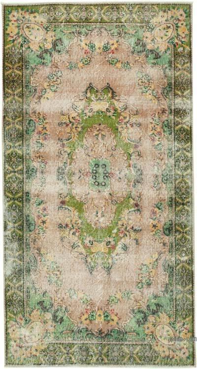 El Dokuma Vintage Halı - 114 cm x 221 cm