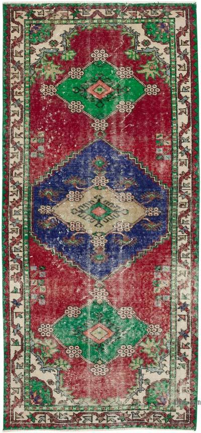 """Vintage Turkish Hand-Knotted Rug - 3'  x 6' 6"""" (36 in. x 78 in.)"""
