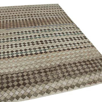 """Vintage Turkish Hand-Knotted Rug - 5' 7"""" x 9' 1"""" (67 in. x 109 in.) - K0037996"""