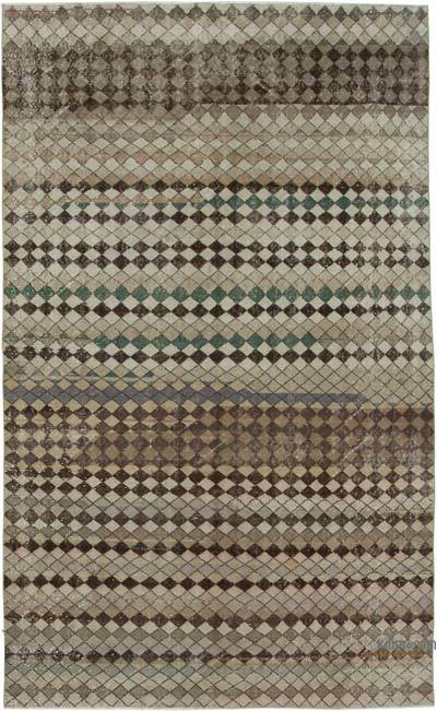 """Vintage Turkish Hand-Knotted Rug - 5' 7"""" x 9' 1"""" (67 in. x 109 in.)"""