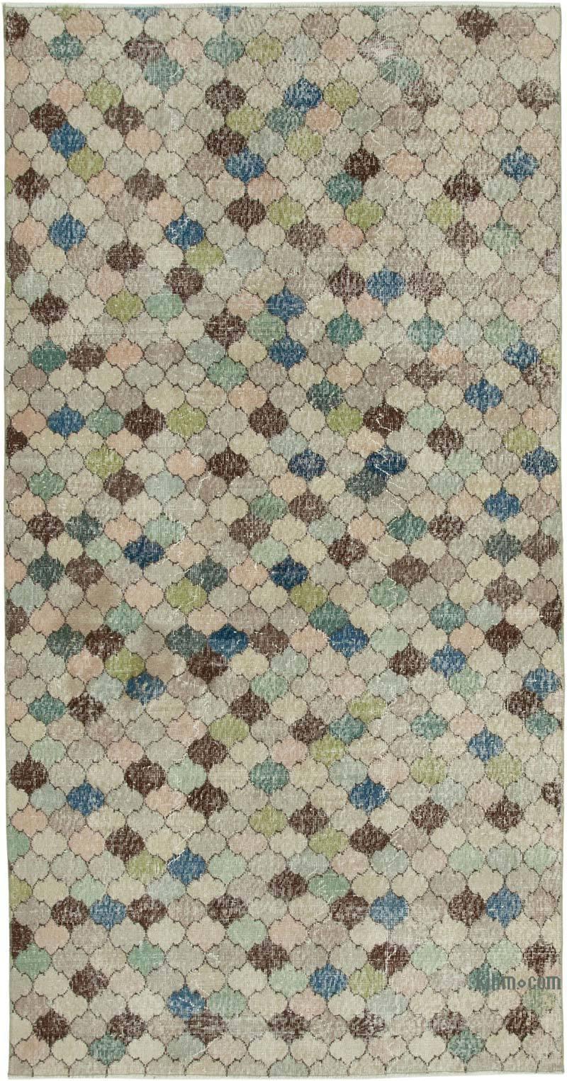Turkish Vintage Rug - 4' 9# x 9' 4# (57 in. x 112 in.) - K0038003