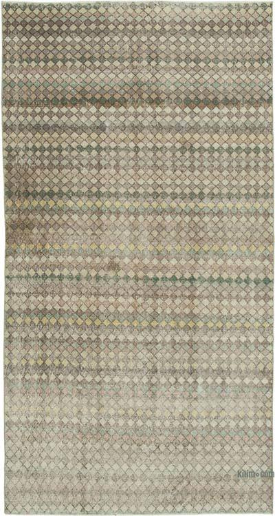 """Vintage Turkish Hand-Knotted Rug - 4' 8"""" x 8' 10"""" (56 in. x 106 in.)"""