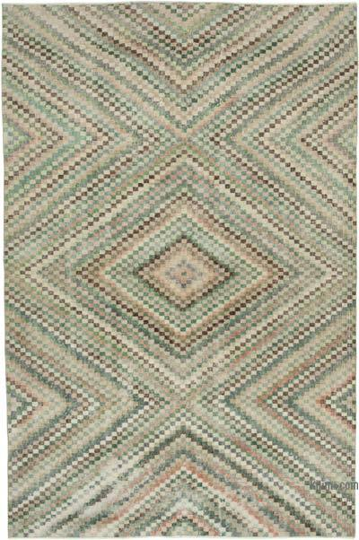 """Vintage Turkish Hand-Knotted Rug - 5' 10"""" x 8' 10"""" (70 in. x 106 in.)"""