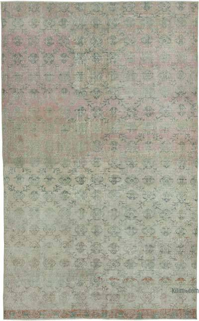 """Retro Vintage Turkish Hand-Knotted Rug - 5' 11"""" x 9' 8"""" (71 in. x 116 in.)"""