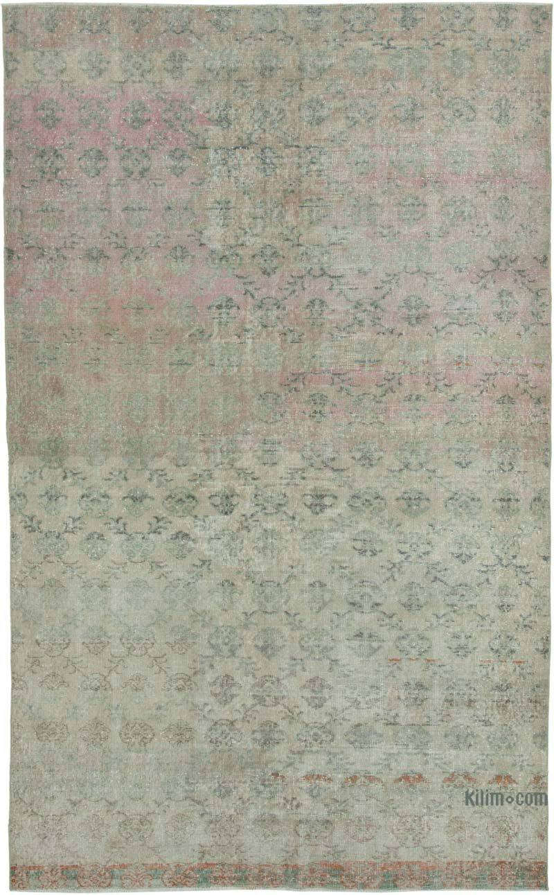"""Retro Vintage Turkish Hand-Knotted Rug - 5' 11"""" x 9' 8"""" (71 in. x 116 in.) - K0038018"""