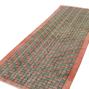 """Retro Hand-Knotted Vintage Runner - 3' 11"""" x 10' 6"""" (47 in. x 126 in.) - K0038041"""