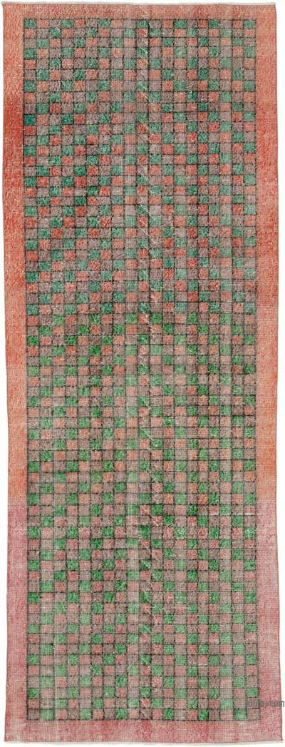 """Retro Hand-Knotted Vintage Runner - 3' 11"""" x 10' 6"""" (47 in. x 126 in.)"""