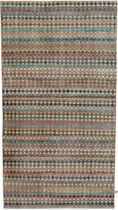 """Vintage Turkish Hand-Knotted Rug - 4' 9"""" x 8' 10"""" (57 in. x 106 in.)"""
