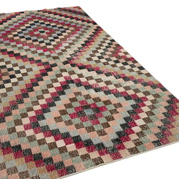 """Vintage Turkish Hand-Knotted Rug - 5' 2"""" x 9' 2"""" (62 in. x 110 in.) - K0038053"""
