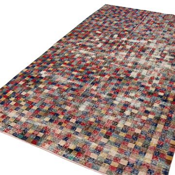 """Vintage Turkish Hand-Knotted Rug - 5' 4"""" x 9'  (64 in. x 108 in.) - K0038057"""