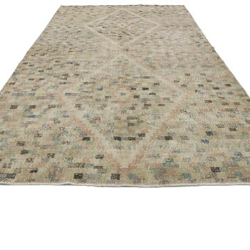 """Vintage Turkish Hand-Knotted Rug - 5' 11"""" x 10' 6"""" (71 in. x 126 in.) - K0038076"""